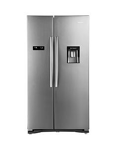 hisense-rs723n4wc1-american-fridge-freezer-with-non-plumbed-water-dispenser-stainless-steel-effect