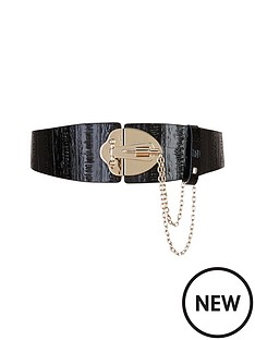 forever-unique-lock-detail-leather-belt