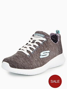 skechers-ultra-flex-first-choice-lace-up-trainer-grey