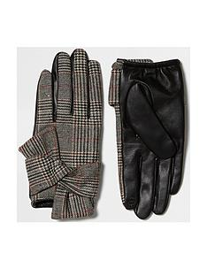 river-island-check-glove