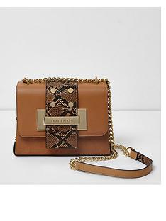river-island-river-island-beige-tab-chain-cross-body-bag