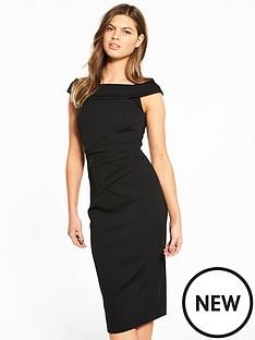 karen-millen-bardot-neckline-dress