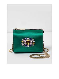 river-island-river-island-green-embellished-jewell-cross-body-bag