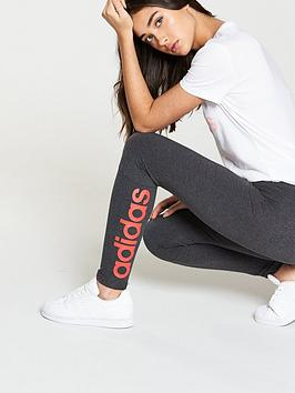 nbsp Tight Essentials Linear adidas Heather Grey Dark  High Quality Outlet Exclusive Sneakernews For Sale Pictures Sale Online ObnIA