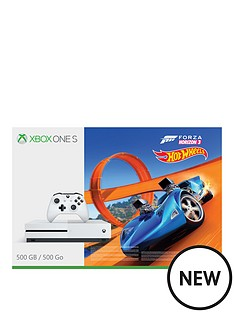 xbox-one-s-500gbnbspconsole-withnbspforza-horizon-3-hot-wheelsnbspplus-optional-extra-controller-andor-12-months-xbox-live-gold