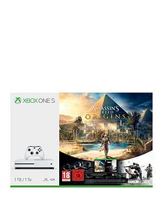 xbox-one-s-1tbnbspconsole-and-assassins-creed-origins-ampnbsptom-clancyrsquos-rainbow-six-siege-plus-optional-extra-controller-andor-12-months-live-gold