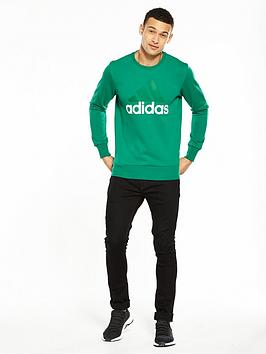 Collections For Sale Discount 2018 New adidas nbsp Big Logo Neck Essentials Sweat Crew Clearance Footlocker b33cm6