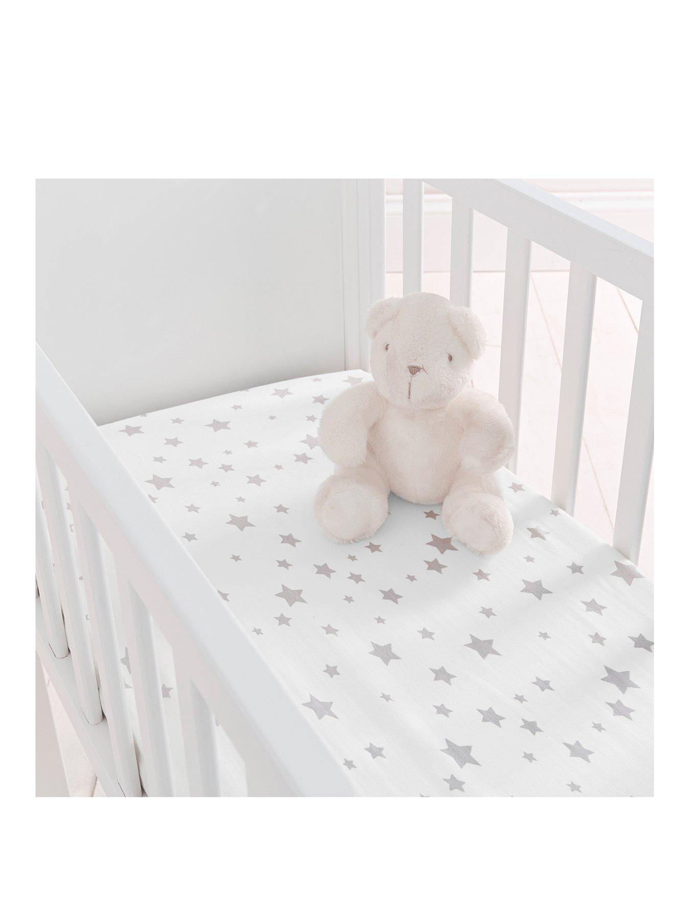 Silentnight Safe Nights Breathable Comfort Fitted Sheets Moses Baskets X2