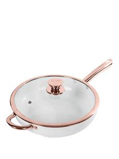 tower-linear-rose-gold-28-cm-sauteacute-pan-in-white
