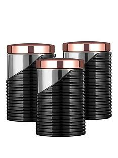 tower-linear-rose-gold-set-of-3-storage-canisters-ndash-black