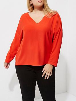 RI Blouse Plus Up Back Red Lace Outlet Store v5kNDa