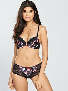 gossard-dark-rose-padded-plunge-bra