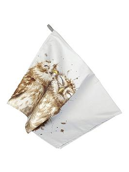 royal-worcester-wrendale-tea-towel-owl