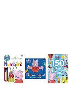 peppa-pig-peppa-pig-practise-with-peppa-wipe-clean-numbers-150-things-to-do-with-peppa-play-with-peppa-hand-puppet-book-bundle