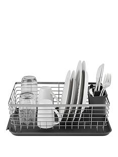 tower-compact-dish-rack-with-cutlery-holder-ndash-grey