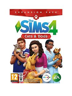 1600218445: PC GamesThe Sims 4 - Cats and Dogs Expansion Pack - PC Code in a Box
