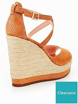 e0e6102956 Dune London Kandis High Wedge Sandal - Orange | littlewoodsireland.ie
