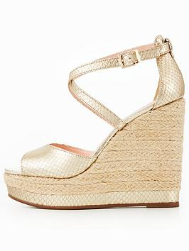 Sale Footlocker Pictures 100 Guaranteed  Wedge Dune London Kandis Sandal High Gold Looking For Cheap Price Manchester Cheap Online Sale Great Deals GmLGRq