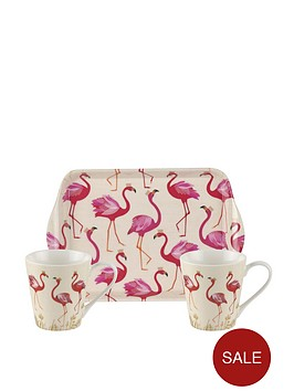 portmeirion-sara-millernbspflamingo-mug-and-tray-set