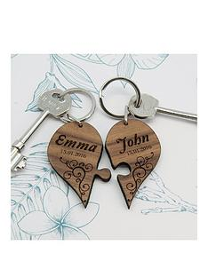 personalised-couples-romantic-joining-wooden-heart-keyring