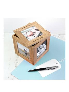 personalised-small-oak-photo-cube