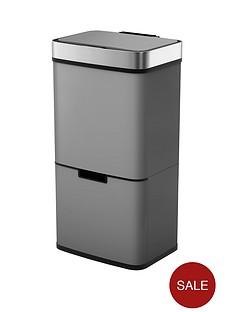 morphy-richards-pro-75l-sensor-bin-with-2-recycle-bins-titanium