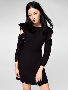 MANGO Stud Detail Frill Dress, Women