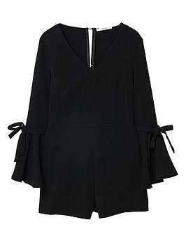 Fluted Playsuit Mango Sleeve Online Cheap Authentic yLrATdA