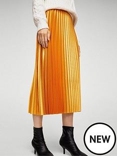 mango-pleated-skirt