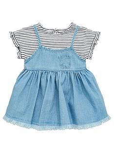 mini-v-by-very-baby-girls-frill-sleeve-tee-amp-denim-bow-dress