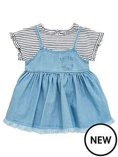 mini-v-by-very-baby-girls-frill-sleeve-tee-amp-denim-bow-dress