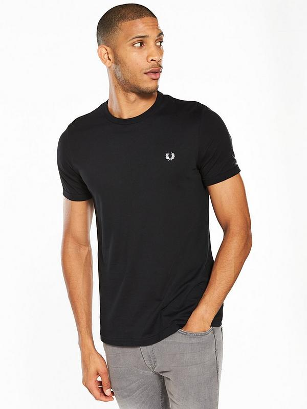 Fred Perry Ringer T-Shirt In Black