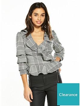 v-by-very-petite-check-wrap-blouse