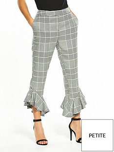 v-by-very-petite-check-flute-hem-trouser