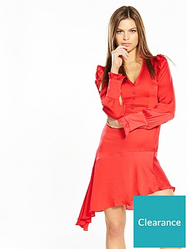 miss-selfridge-red-asymmetricnbsphem-dress