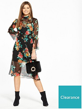 miss-selfridge-floral-high-neck-rose-midi-dress