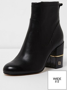 river-island-river-island-wide-fit-leather-block-heel-boot-black