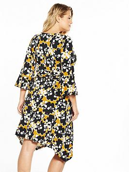 Cheap Sale Shopping Online Clearance Find Great by Jersey Wrap  Dress Mustard V Printed Very Curve Clearance With Mastercard Discount Marketable Footlocker Pictures Cheap Price 0XGL7Mzi