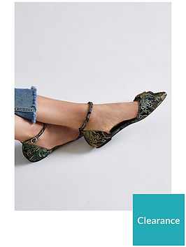 river-island-river-island-floral-jacquard-knot-two-part-pointed-shoe--multi