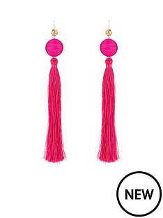 v-by-very-oversized-statement-tassel-earrings-pink