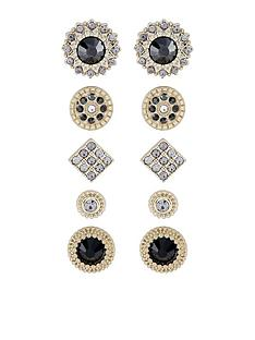accessorize-5x-set-jet-stud-earrings