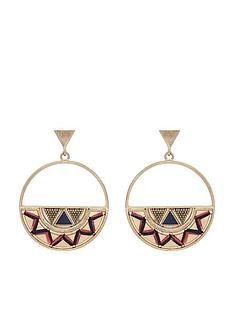 accessorize-zigzag-threaded-hoops