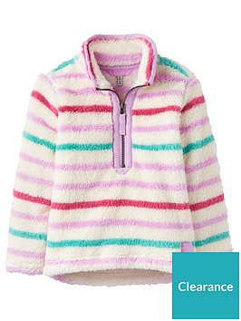joules-girls-merridie-multi-stripe-half-zip-fleece