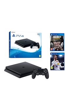 playstation-4-slim-500gbnbspconsole-with-call-of-duty-wwii-and-fifa-18