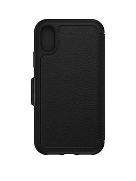 otterbox-strada-folio-whitetail-leather-case-for-iphone-x--nbspblacknbsp
