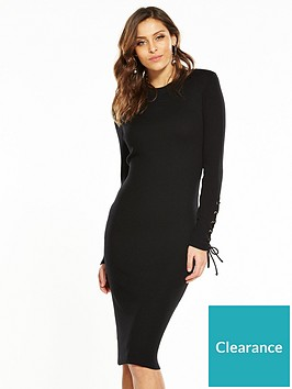 v-by-very-skinny-rib-knitted-dress-black
