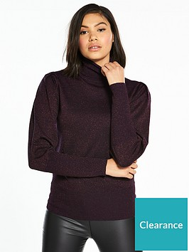 oasis-lurex-history-sleeve-jumper-purple