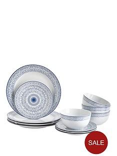 ideal-home-blue-artisan-12-piece-dinner-set