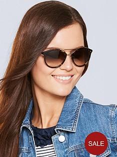 1600221654: Juicy Couture Brow Bar Sunglasses -Tortoiseshell