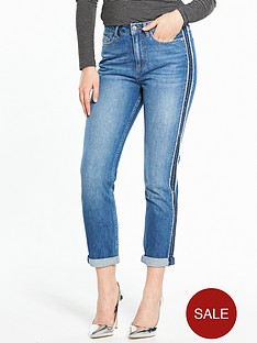 v-by-very-raw-edge-side-seam-girlfriend-jean-mid-wash